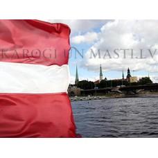 Latvijas Valsts karogs ūdens transportam, - jahtām, kuteriem (0.6m X 0.4m) mastam
