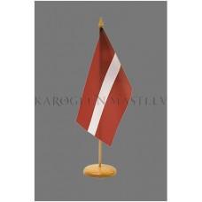 Latvijas Valsts galda karodziņš (14 X 28cm) bez statīva